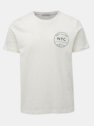 Krémové tričko s potiskem na zádech Selected Homme Paul