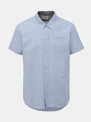 Svetlomodrá pruhovaná regular fit košeľa Blend