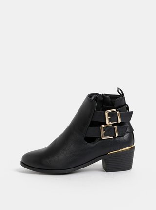 Černé kotníkové boty Dorothy Perkins