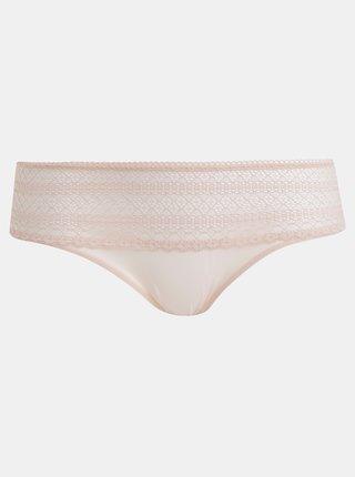 Svetlorúžové krajkové nohavičky DKNY