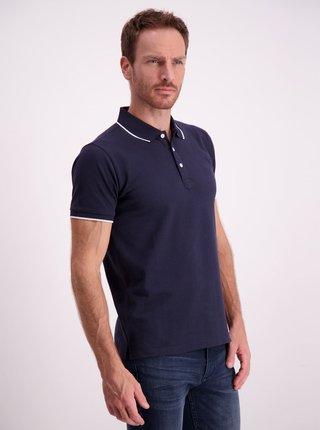 Tmavě modré slim fit polo tričko Lindbergh