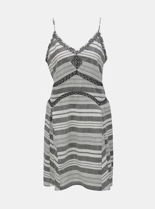 Bílo-šedé vzorované šaty Rip Curl