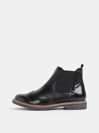 Čierne dámske chelsea topánky s.Oliver