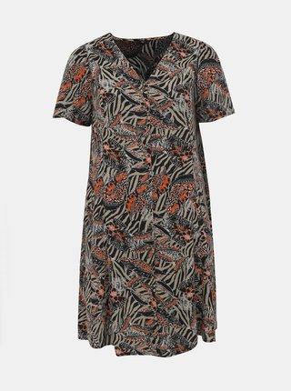 Černo-šedé vzorované šaty M&Co Plus