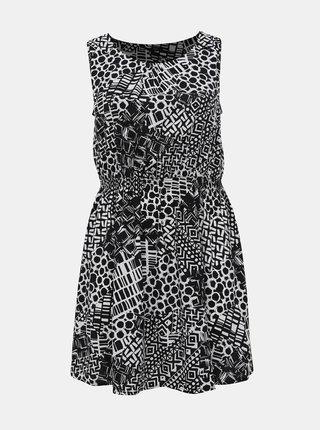Bielo-čierne vzorované šaty M&Co Plus