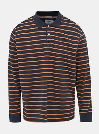 Tmavomodré pánské pruhované tričko Pepe Jeans Pelayo
