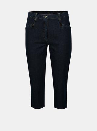 Pantaloni din denim 3/4 bleumarin Ulla Popken