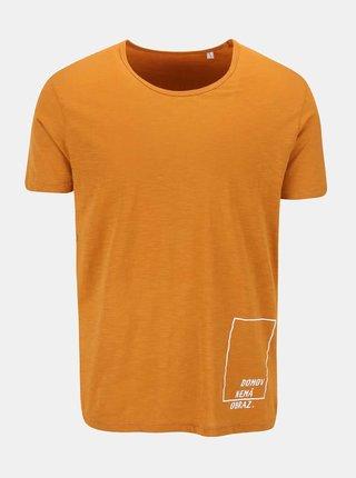 """""""Dobré"""" oranžové pánske tričko pre Jeden Svět"""