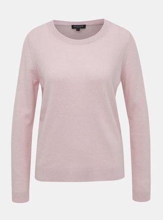 Světle růžový kašmírový basic svetr Selected Femme Aya