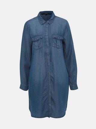 Modré košilové šaty VERO MODA Silla