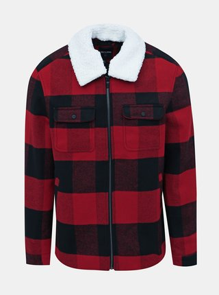 Červená kockovaná bunda ONLY & SONS Ross
