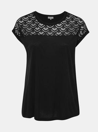 Černé tričko ONLY CARMAKOMA Flake