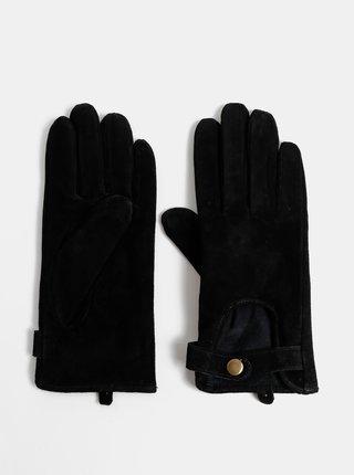 Černé semišové rukavice ONLY Biker