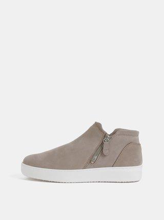 Béžové kožené chelsea boty Tamaris
