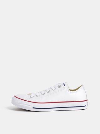Biele kožené tenisky Converse Chuck Taylor