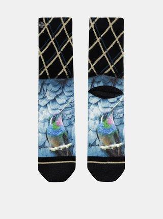 Modro-čierne dámske vzorované ponožky XPOOOS