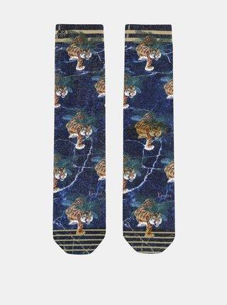 Modré dámske vzorované ponožky XPOOOS