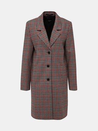 Béžový vzorovaný vlněný kabát Selected Femme Sasja