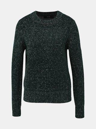Tmavozelený vzorovaný sveter VERO MODA Akua