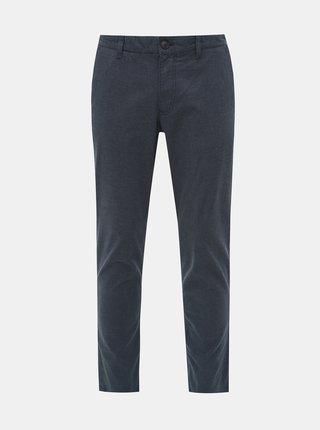 Modré vzorované slim fit nohavice Selected Homme Parker