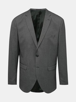 Šedé oblekové vzorované sako Selected Homme Logan