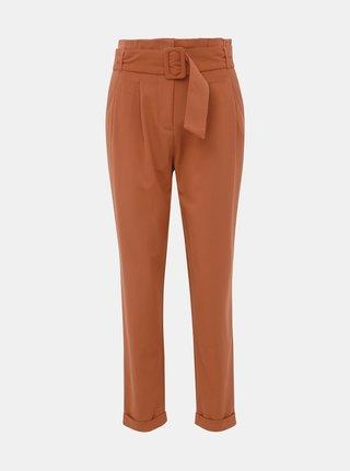 Hnědé kalhoty ONLY Sica