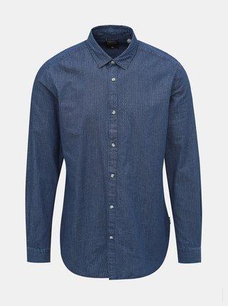 Tmavomodrá vzorovaná košeľa ONLY & SONS Klas