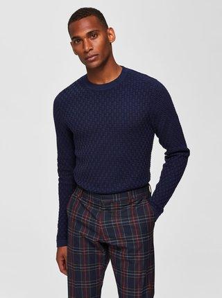 Tmavomodrý sveter Selected Homme Kent