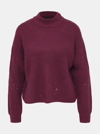 Vínový sveter ONLY Riley