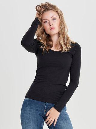 Čierne basic tričko Jacqueline de Yong Ava