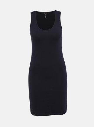 Tmavomodré púzdrové basic šaty Yest
