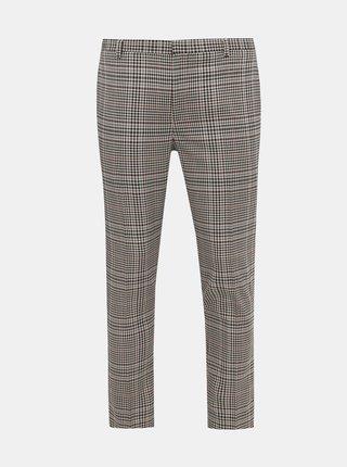 Béžové kockované skinny fit oblekové nohavice Burton Menswear London