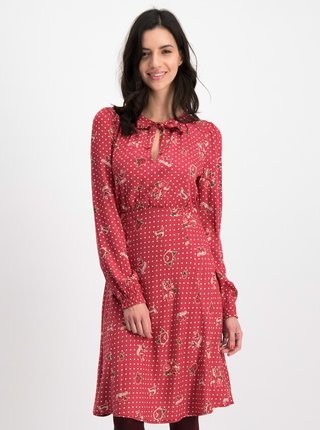 Červené bodkované šaty Blutsgeschwister Greta