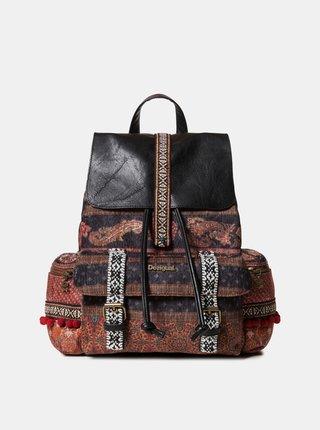 Hnědý vzorovaný batoh Desigual
