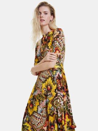 Žluté květované šaty Desigual Arlene