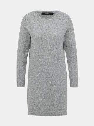 Světle šedé svetrové šaty VERO MODA Doffy
