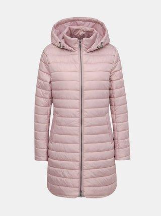 Světle růžový dámský prošívaný kabát ZOOT