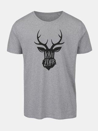 Sivé pánske tričko ZOOT Originál Lovu zdar