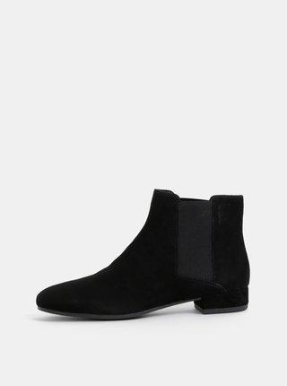 Černé dámské semišové chelsea boty Vagabond Suzan
