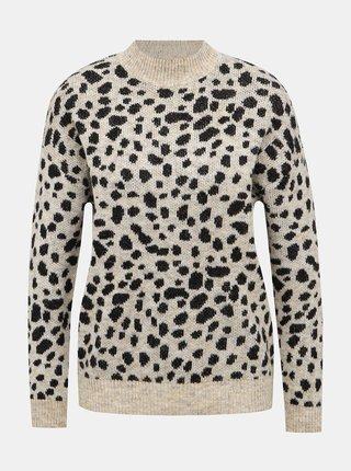 Béžový svetr s gepardím vzorem Dorothy Perkins