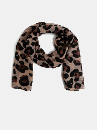 Hnědý šátek s leopardím vzorem Dorothy Perkins
