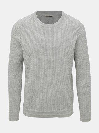 Svetlošedý sveter Selected Homme Oliver
