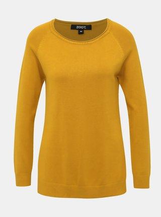 Horčicový basic sveter ZOOT