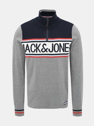 Šedý sveter Jack & Jones Brad