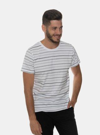 Biele pánske pruhované tričko SAM 73