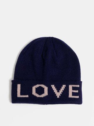Tmavomodrá čapica Haily´s Love