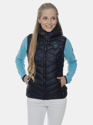Tmavě modrá dámská prošívaná vesta SAM 73