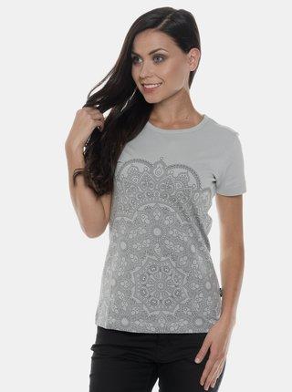 Svetlošedé dámske tričko s potlačou SAM 73