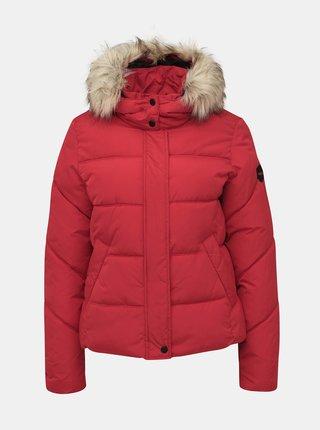Červená prošívaná zimní bunda ONLY North