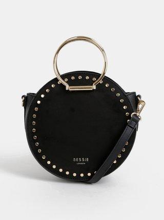 Černá kabelka v semišové úpravě Bessie London